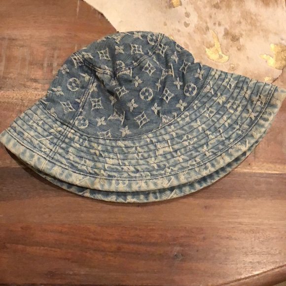 Louis Vuitton Accessories - AUTHENTIC Louis Vuitton denim bucket hat vintage 1463b0cede5